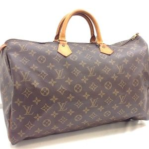 Auth Louis Vuitton Speedy 40 Satchel Bag 224LSA199